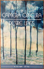 Camera Obscura Desire Lines 2013 Ltd Ed Rare New Poster +Free Indie Rock Poster!
