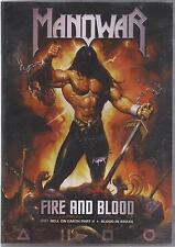 MANOWAR FIRE AND BLOOD HELL ON EARTH PART II + BLOOD IN BRAZIL NEW 2 DVD SET