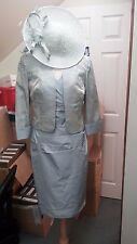 SALE Ispirato Condici Mother of the Bride Seafoam Green Taupe Size 16 BNWT £590