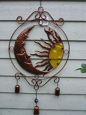 Windspiel Klangspiel Fensterhänger Hängedeko Sonne Mond Gartendeko Metall 40012A