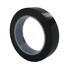 "3M Vinyl Tape 471 Black Electrical Safety Marking Tape, 1""x36 yd 5.2 mil, 1 Roll"