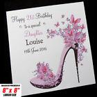 Personalised Handmade Birthday Card Mum Sister Daughter Friend Auntie Niece Nan
