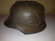 WW2 ELITE German  helmet replica metal with chicken wire basket attached