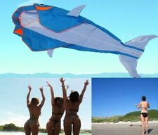 "[ USA ] LET""S GO FLY A KITE! 3D BIG WHALE FRAMELESS FOIL KITE BEACH PARK FUN"