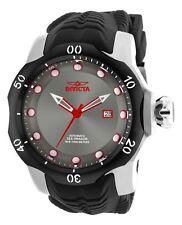 Mens Invicta 19311 Venom Automatic Gunmetal Dial Black Silicone Strap Watch