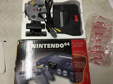 NINTENDO 64 CONSOLE N64 N GAME SYSTEM CONTROLLER COMPLETE BOX EXPANSION PACK
