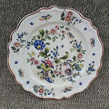 Ancienne assiette murale porcelaine déco floral pop old french plate