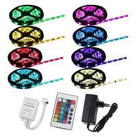 1m-20m LED RGB SMD5050 30/60 LEDs Streifen Strip Band Leiste+Controller+Trafo