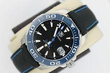 Tag Heuer NEW NWT BLUE Aquaracer Watch Mens WAY211B.FC6363 $2500 AUTOMATIC MINT