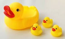 1 Big 3 Small Rubber Sound Ducks Funny Baby Kid Bath Bathing Toys Toy Water Game