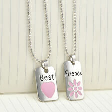 2pcs Sets Jewelry Christmas Gift Hot Best Friend Lover Cool Pendant Necklace OL