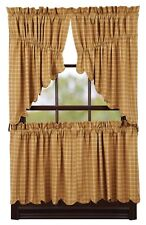 "Amherst Mustard Gold Country Tier Set by VHC Brands - Lined - 24"" x 36"""