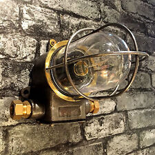 Vintage Industrial light-Explosion Proof Wall Light-Glass Dome-Cage-Edison Bulb