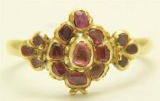 A Magnificent Early Georgian Ruby Cluster Ring Circa 1700's