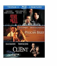 A TIME TO KILL /THE CLIENT LIST/ PELICAN BRIEF -  Blu Ray - Sealed Region free