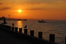 30 X 40 CANVAS GICLEE ART PRINT of a Seaside Heights Sunrise