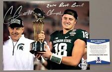 CONNOR COOK SIGNED 2014 ROSE BOWL CHAMPS MICHIGAN STATE 8X10 PHOTO BECKETT COA