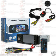 "POWER ACOUSTIK PD-454B DIN 4.5"" LCD DVD CD BLUETOOTH STEREO FREE REARVIEW CAMERA"