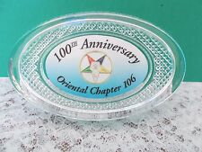 Order of the Eastern Star Oriental Chapter 106 - 100th Anniversary Paperweight