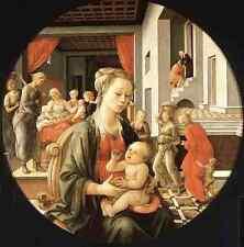 Lippi Fra Filippo Virgin With The Child And Scenes From The Life Of St Anne A3 B