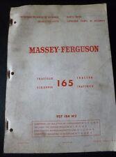 Massey Ferguson Schlepper MF 165 Ersatzteilkatalog
