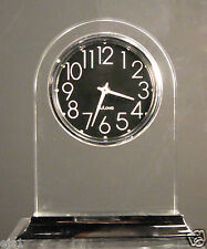 Lucite Bureau Alarm Clock by Bulova- Wind Up - Eames Era Design