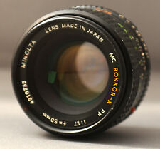 ROKKOR-X MC PF 50mm f1.7 Minolta Mount MD Camera Prime Lens Japan