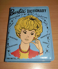 Vintage Barbie 1963 Blue Vinyl Cover Dictionary By Mattel