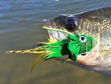 Freshwater Fly Fishing Flies (Bass, Pike, Trout) Swimming Frog Yellow Belly (6)