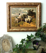 Jack Russell Dog Print Antique Styl Framed Hunt BOLTED RABBIT