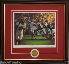 """Alabama football """"The Gamebreaker"""" framed print & coin signed by Daniel Moore"""
