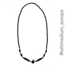 Art Deco Collier Hals kette schwarz Glas französischer Trauerschmuck necklace
