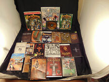 Lot 20 Assorted Video Games, Manuals Strategy Guides Maps XBox PC PS consoles