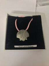 Sea Shell PP-G24 Motif Pewter  PENDENT ON A PINK CORD Necklace