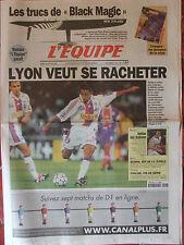 L'Equipe du 26/2/2000 - Lyon - Basket : Equipe de France - Burns - Pioline