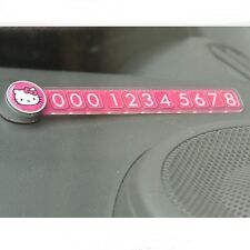 Sanrio Hello Kitty Car Accessories Temporary Parking Phone Number Button Plate