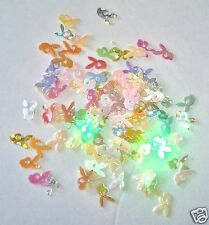 Nail Art Decoration Glitter BUNNY HOLOGRAM Mixed Colors 100 pcs
