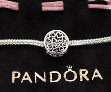 GENUINE PANDORA LOVING SENTIMENTS OPENWORK HEART LOVE CHARM S925 ALE WITH POUCH