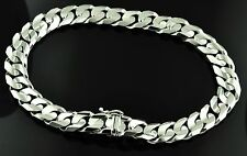 35.30 GRAMS 18K WHITE GOLD MENS CURB LINK BRACELET NEW STYLE 8  INCHES