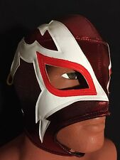 RED WHITE SHOCKER!! LUCHADOR/WRESTLER MASK! GREAT HANDMADE WRESTLING MASK!!