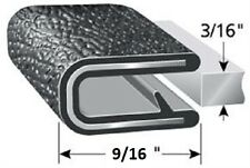 "3/16"" Black Edge Trim Lok Camper Trailer RV Seal Lock Boat Vinyl"