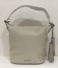 NWT MICHAEL KORS Elana Convertible Cement Leather Large Shoulder Tote Bag