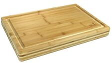Bamboo Extra Large Size Cutting Board 18 X 12 X 2 Strong Sturdy, by AllThisWood