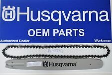 "Husqvarna OEM 18"" .325 72 DL Bar Chain Combo Package 585943272 &  501840672"
