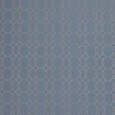 MASSIVE REMNANT Genevieve Bennett BLUE Spot Lattice Fabric - Approx 137cm x 2.6M