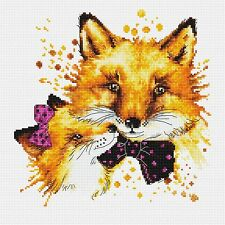 LUCA-S  B2300  Foxes  Kit  Broderie  Point de croix  Compté