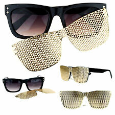 SA106 Detachable Gold Metal Mesh Magnetic Clipon Hip Hop Bling Shades Sunglasses