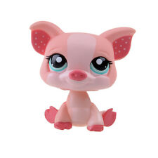 Rare Hasbro Littlest Pet Shop LPS Pink Piggy Pig Gift Toy Animals