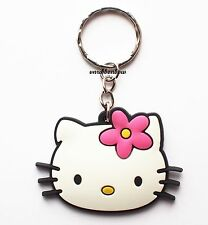 Cute Hello Kitty Head Keyring Bagcharm Keychain Zip puller Rubber PVC UK Seller