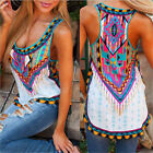Vintage Womens Summer Casual Vest Top Sleeveless Shirt Blouse Tank Tops T-Shirt